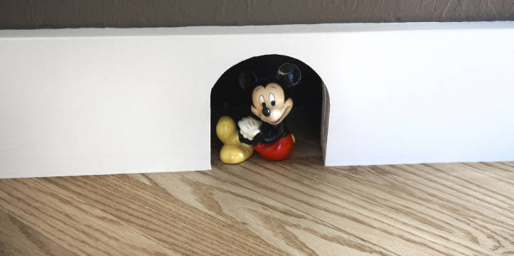 Our client wanted a mouse house.