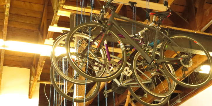 Mission District bike pulley system.