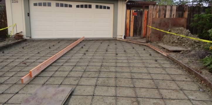 Concrete Driveway Installation.